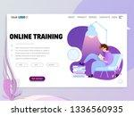 landing page or website...   Shutterstock .eps vector #1336560935