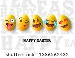 happy easter poster  easter... | Shutterstock .eps vector #1336562432