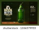 vector realistic 3d green beer... | Shutterstock .eps vector #1336579955