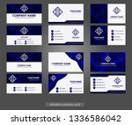 polygon business card vector