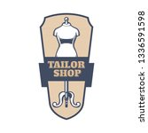 tailor shop vintage isolated... | Shutterstock .eps vector #1336591598