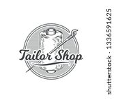 tailor shop vintage isolated... | Shutterstock .eps vector #1336591625