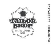 tailor shop vintage isolated... | Shutterstock .eps vector #1336591628