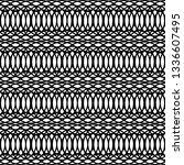 design seamless monochrome grid ... | Shutterstock .eps vector #1336607495