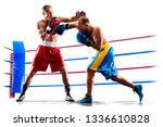 professional boxers isolated in ... | Shutterstock . vector #1336610828