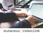 businessman working process at... | Shutterstock . vector #1336611248