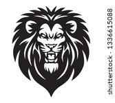 Stock vector wild lion roaring logo mascot vector 1336615088