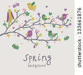 spring background. stylish... | Shutterstock .eps vector #133661876