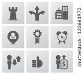 web business icons vector | Shutterstock .eps vector #133661972