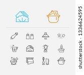 kitchenware icons set. salt... | Shutterstock . vector #1336624595