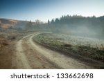 Misty Morning On A Dirt Road...