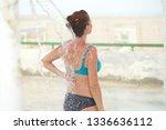 pregnant woman bath in the... | Shutterstock . vector #1336636112