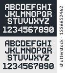 pixel retro font  8 bit letters ... | Shutterstock . vector #1336652462