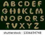 cartoon brown stone alphabet...