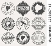 ecuador set of stamps. travel... | Shutterstock .eps vector #1336667465