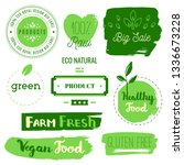 healthy food icons  labels.... | Shutterstock .eps vector #1336673228