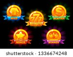 slots icons  collections wild ... | Shutterstock .eps vector #1336674248