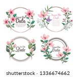 set botanic cards with exotic... | Shutterstock .eps vector #1336674662