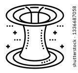 line icon of flying saucer  | Shutterstock .eps vector #1336687058