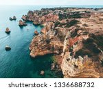 ocean landscape with rocks and...   Shutterstock . vector #1336688732