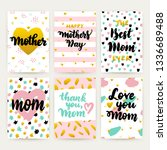 mothers day hipster trendy... | Shutterstock .eps vector #1336689488