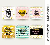 mothers day trendy postcards.... | Shutterstock .eps vector #1336690418