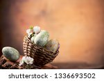 easter eggs with flower... | Shutterstock . vector #1336693502
