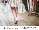 lifestyle shopping concept ... | Shutterstock . vector #1336698122