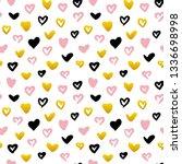 grunge hearts seamless pattern. ... | Shutterstock .eps vector #1336698998