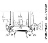 interior metropolis office.... | Shutterstock .eps vector #1336701005