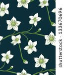 white flowers on twig seamless... | Shutterstock . vector #133670696