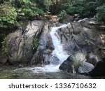 A Small Waterfall In The Jungl...