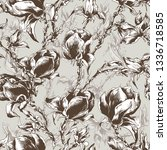 seamless pattern with vintage... | Shutterstock .eps vector #1336718585