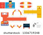 cut and glue robot toy vector... | Shutterstock .eps vector #1336719248