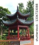 asian gazebo architecture  lake ... | Shutterstock . vector #1336723088