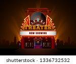 theater cinema building vector...   Shutterstock .eps vector #1336732532