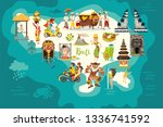 bali map. illustrated map of... | Shutterstock . vector #1336741592
