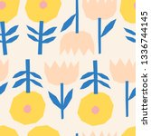 vector seamless pattern with... | Shutterstock .eps vector #1336744145
