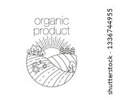organic product round outline...   Shutterstock . vector #1336744955