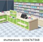 modern interior pharmacy and... | Shutterstock .eps vector #1336767368