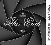 illustration of the end screen... | Shutterstock .eps vector #133676822