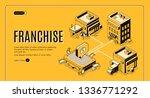 business franchise isometric...   Shutterstock .eps vector #1336771292