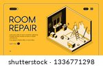 apartment room repair and...   Shutterstock .eps vector #1336771298