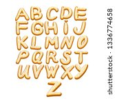 icing letters. sweet alphabet ... | Shutterstock .eps vector #1336774658