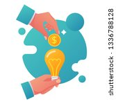 crowdfunding concept. business...   Shutterstock .eps vector #1336788128