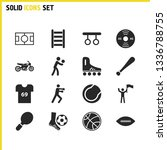 sports icons set with tennis...