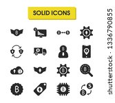 finance icons set with change...
