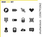 user icons set with cloud ...