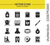 medical icons set with heart... | Shutterstock .eps vector #1336791065