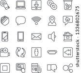 thin line icon set   trash bin...   Shutterstock .eps vector #1336802675
